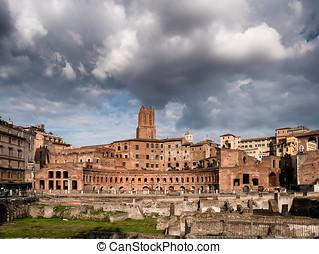 Augustus forum in Rome, Italy - Augustus forum in Ancient...