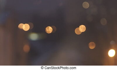 Bokeh Background is Yellow - Yellow and orange bokeh on a...