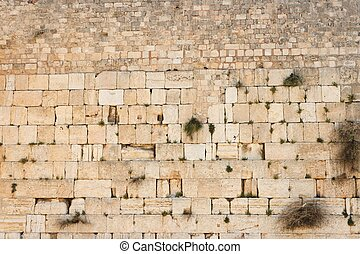 Wailing Wall Western Wall in Jerusalem texture