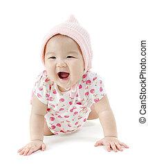 Portrait of Asian baby girl - Portrait of full length...