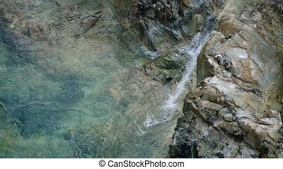 River Pool In Volcanic Rock - Pure mountain river running...