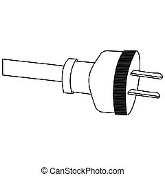 power cable icon stock