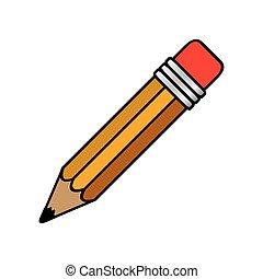 colorful pencil icon stock, vector illustrtion design image