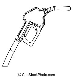 nozzle of gas icon stock