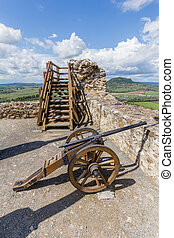 Old cannon from the Szigliget castle in Hungary