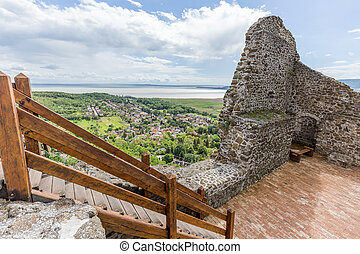 Detail from the Szigliget castle in Hungary