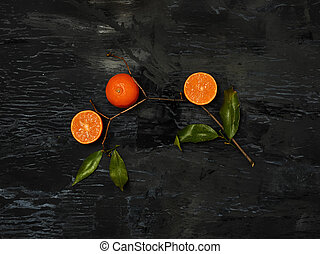 The group of fresh fruits - The group of fresh citrus...