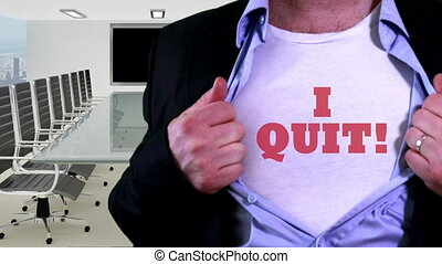 Employee quit concept shirt - Shot of Employee quit concept...