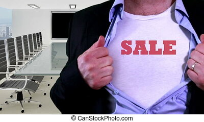 Sale shirt concept - Shot of Sale shirt concept