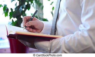 Businessman Drawing In Notepad - Businessman With Pen...