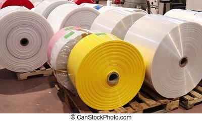 Plastic Factory Wideshot - Plastic bags factory machinery
