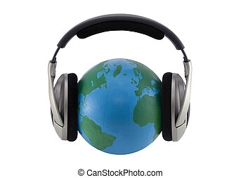 World music. Clipping path included