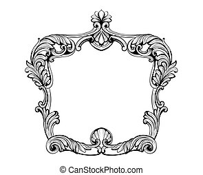 Imperial Baroque Mirror frame. Vector French Luxury rich...