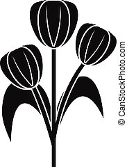 Flowers icon, simple style