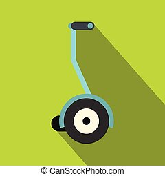 Segway icon, flat style - Segway icon. Flat illustration of...