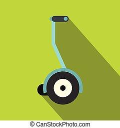 Segway icon, flat style - Segway icon. Flat illustration of...