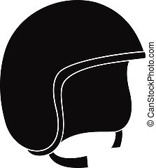 Safety helmet icon, simple style - Safety helmet icon....