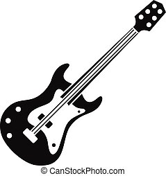 Classical electric guitar icon, simple style - Classical...