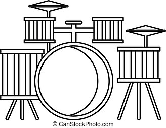 Drums icon, outline style