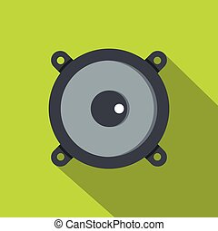 Frontal audio speaker icon, flat style - Frontal audio...
