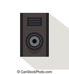 Sound speaker icon, flat style