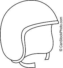 Segway helmet icon, outline style - Segway helmet icon....