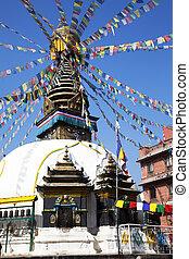 Buddhist Stupa, Kathmandu, Nepal - Image of a Buddhist stupa...