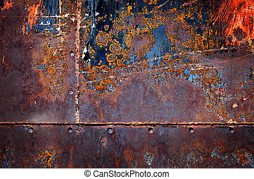 Rusted Metal Texture for Background - Detail of rusted metal...