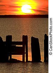 Sunset Hecla Island Manitoba Canada
