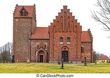 Gumlosa Kyrka - Gumlosa church in the Skane region of Sweden...