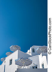 Santorini Imerovigli Apartment Complex - A view looking up...