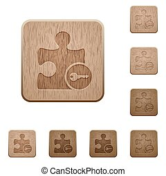 Secure plugin wooden buttons - Secure plugin on rounded...