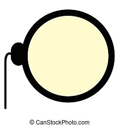Isolated monocle icon on a white background, Vector...