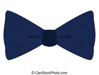 Isolated blue bowtie on a white background, Vector...