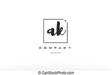 ak a k hand writing letter company logo icon design - ak a k...