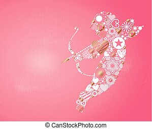 Cupid Valentines Day Card - Valentines Day themed...