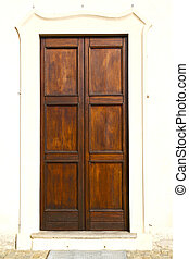 in r a door curch closed metal wood italy lombardy - in...