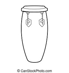Isolated conga drum outline - Isolated outline of a conga...