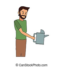 man with watering can icon image