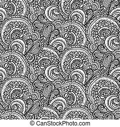 Ethnic paisley seamless pattern in vector. Endless abstract...