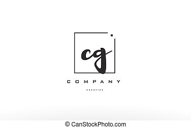 cg c g hand writing letter company logo icon design - cg c g...