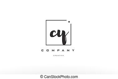cy c y hand writing letter company logo icon design - cy c y...