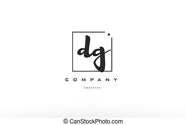 dg d g hand writing letter company logo icon design - dg d g...