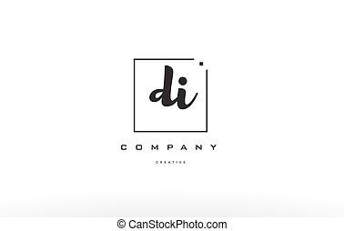 di d i hand writing letter company logo icon design - di d i...
