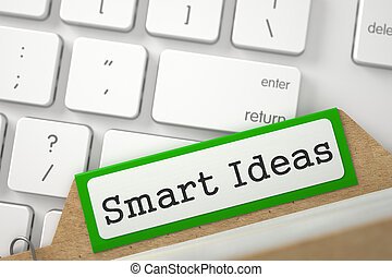 Folder Index with Inscription Smart Ideas. 3D. - Smart...