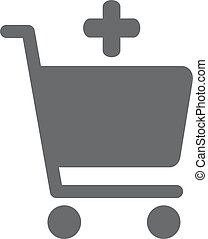 Add to shopping chart vector icon. Online shop sign. Web...