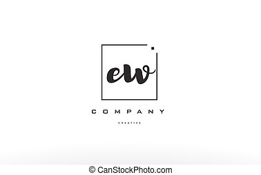 ew e w hand writing letter company logo icon design - ew e w...