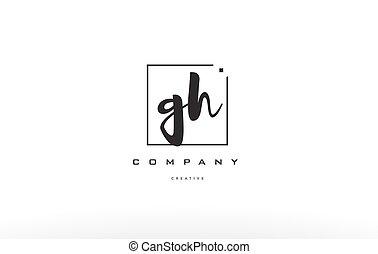 G, gh, H, compañía, escritura, diseño, carta, logotipo,...