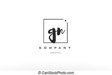 gn g n hand writing letter company logo icon design - gn g n...