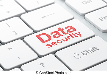 Protection concept: Data Security on computer keyboard background